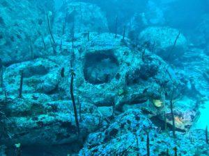 restos de un barco a vapor naufragado en Galicia