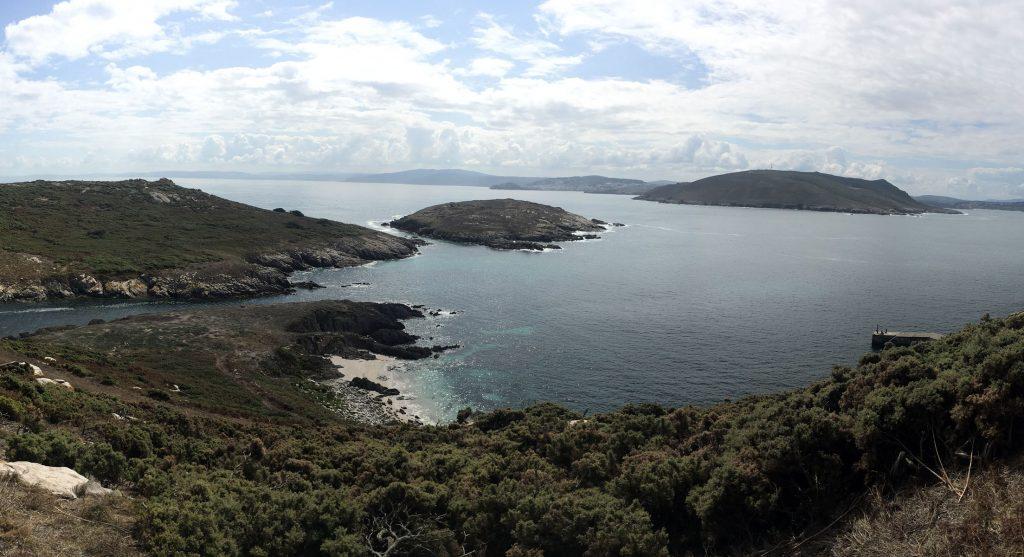 Vista desde la Isla Sisarga